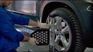 Как сделать развал - схождение колес в Фольксваген Центр Евразия(Мы посетили Фольксваген Центр Евразия, чтобы убедиться в качестве выполняемых работ. Новая акция автосалон..., 2016-04-10T05:26:27.000Z)