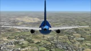 Flight Simulator X:EMERGENCY LANDING. AT INDRA GANDI INT.(DELHI INDIA).