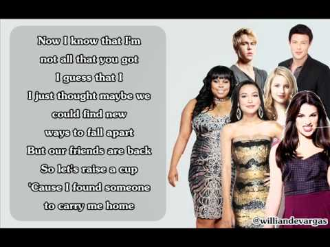 We Are Young - Glee Version (With Lyrics)