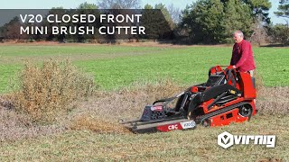 Video still for V20 Mini Skid Steer Closed Front Rotary Brush Cutter