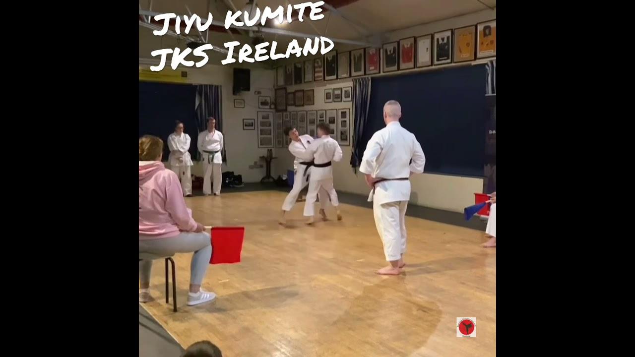 Jiyu Kumite Shotokan karate LIMERICK SHOJINKAI JKS IRELAND