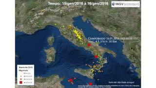 Italia sismica - terremoti di gennaio 2016