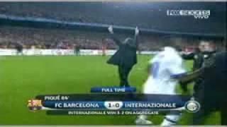 El show de Mourinho barcelona vs inter