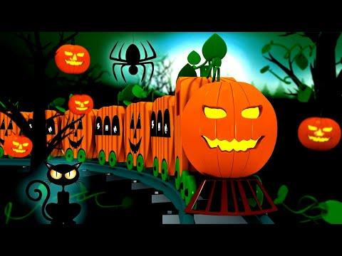 Halloween Train: Toy Factory Halloween Train Cartoon For Kids | Cartoon Cartoon
