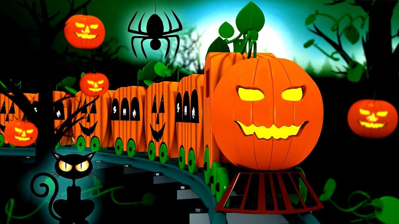 Halloween Train: Toy Factory Halloween Train Cartoon for ...