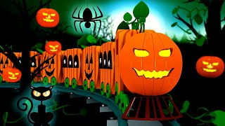 Halloween Train: Toy Factory Halloween Train Cartoon for Kids | Cartoon Cartoon
