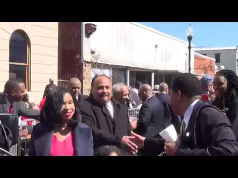 Martin Luther King, III and Family in Selma UNCUT - 50th Anniversary March 7, 2015