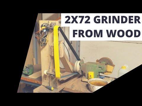 Homemade cheap DIY 2x72 belt grinder (without welding)