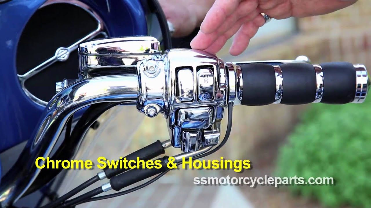 chrome switch housing kit harley davidson motorcycle short