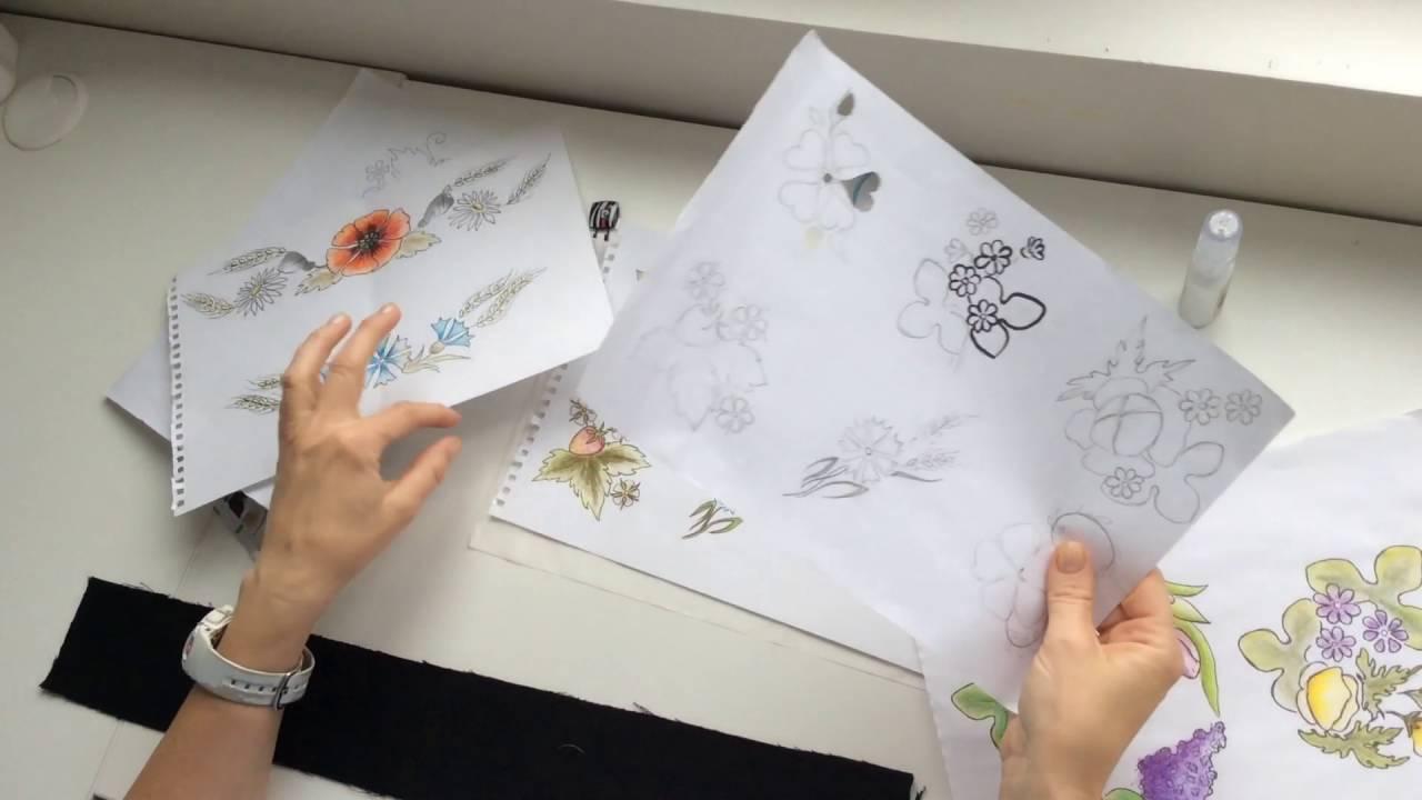 Как перенести рисунок на ткань при вышивке гладью