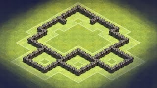 Clash of Clans - TH4 Hybrid-Farming Base (Tree)