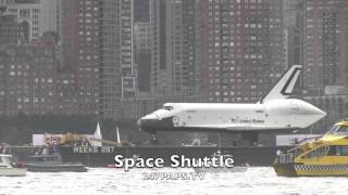 ENTERPRISE SPACE SHUTTLE ON THE HUDSON RIVER IN NEW YORK CITY