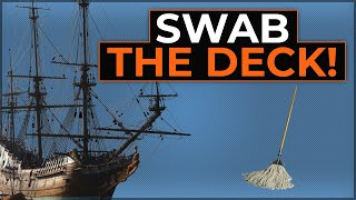 Why Did Sailors Swab The Deck? - Naval History Animated