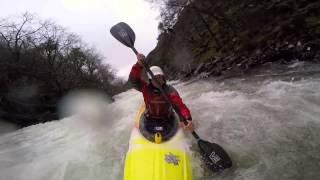 Kayaking on the Aberglaslyn Gorge in the Pyranha Kayaks 9R