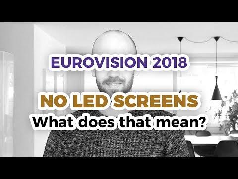 The LED Screen Controversy – Eurovision 2018 Stage Design (ESC 2018)
