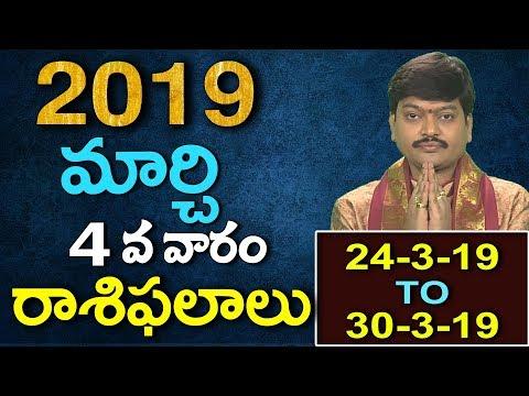 మార్చి 4వ వారం వారఫలాలు 2019 || Fourth Week of March Varaphalalu by Tejaswisarma