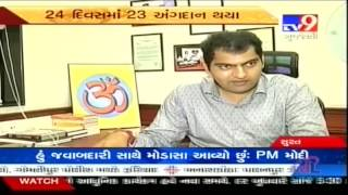 Interview with CEO of Donate Life Nirav Mandlewala in Tv9 News.