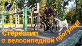 Стереотип о велосипедной прогулке.
