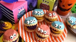 Colorful Monster Tart Recipe【カラフル🎃モンスタータルト】作り方