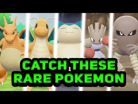 How To CATCH Dragonite, Charizard And MORE Rare Pokémon In The Wild In Let's Go Pikachu / Eevee!