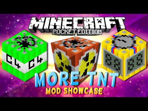 MCPE MODS - More TNT Mod Showcase!! (MCPE Mods Showcase)