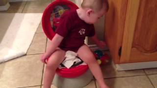 Wyatt tries out his potty!!