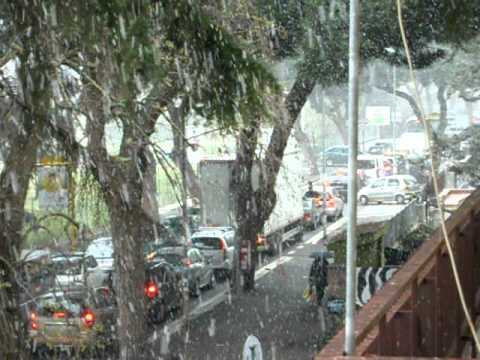 La neve ad Acilia