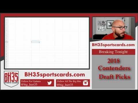 Conference Draw for 2018 Contenders Draft Picks Football | 12 Box Case Break #1 Random Confere