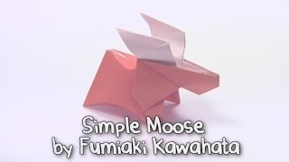 Origami Simple Moose by Fumiaki Kawahata | Cómo hacer origami de papel de alces