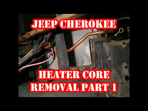 JEEP CHEROKEE HEATER CORE REMOVAL PART 1 - YouTube