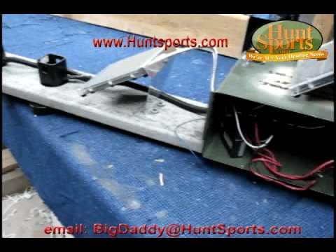 Hog Hunting Big Wild Boar Hunt Pigs Rifle Bow LED Solar Feeder Light