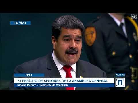 """Nicolás Maduro desde la ONU denuncia campaña de Estados Unidos para """"intervenir"""" Venezuela"""