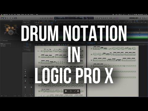 Drum Notation in Logic Pro X