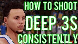 How to shoot deep 3s consistently crazy gameplay! nba 2k16 ps4 & xbox1