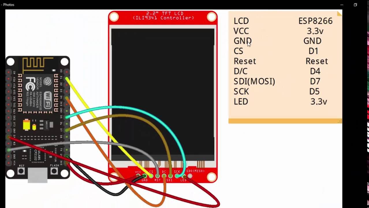 TFT LCD screen wifi scan in Nodemcu(esp8266)