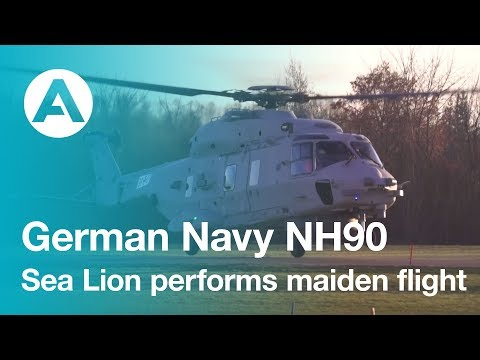 German Navy NH90 Sea Lion performs maiden flight