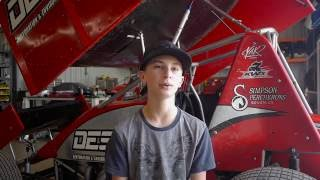 Dan Simpson racing prodigy 14yr sprint car driver Michael