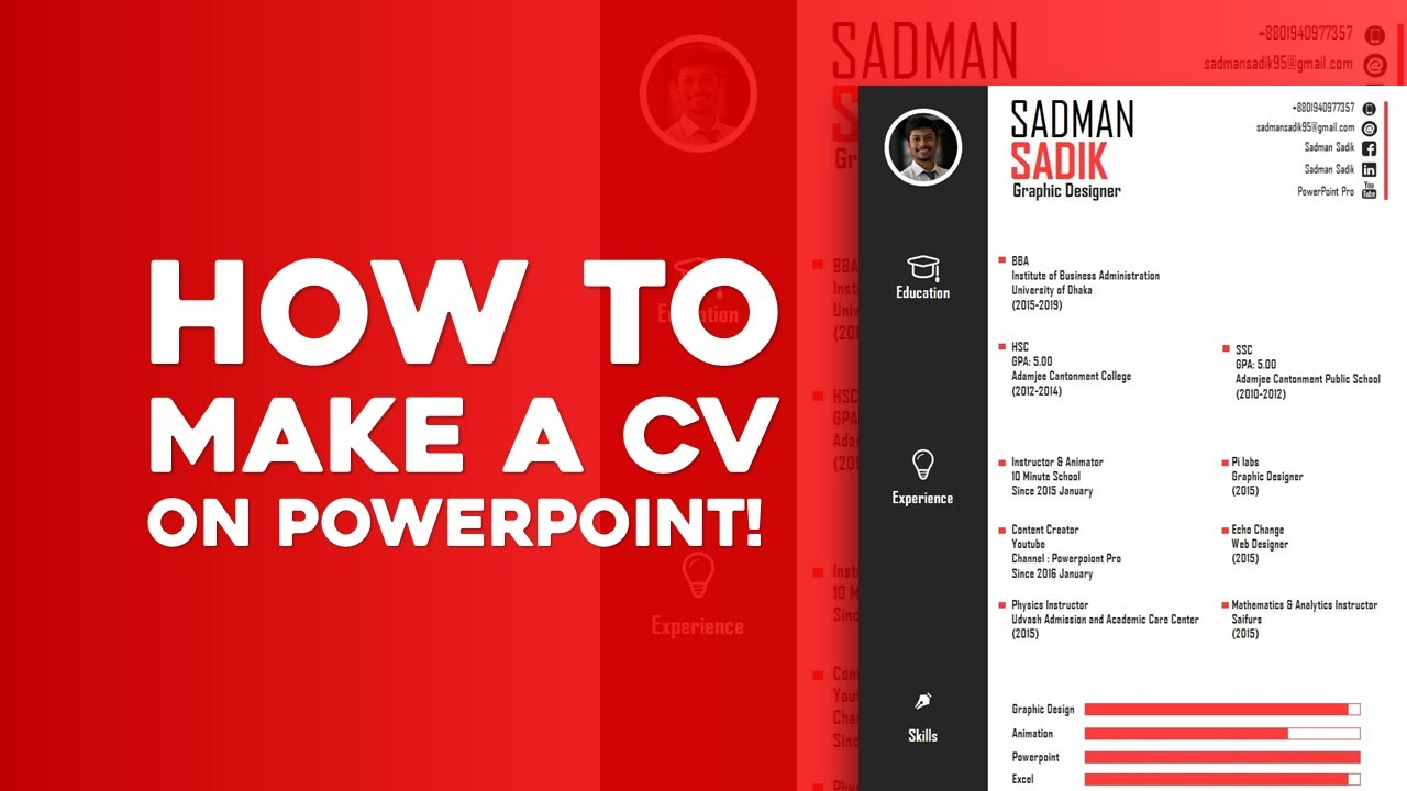How To Make A CV On PowerPoint! [Skill Development]   YouTube  Resume Ppt