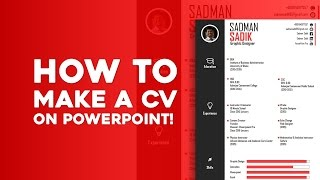 How to Make a CV on PowerPoint! [Skill Development]