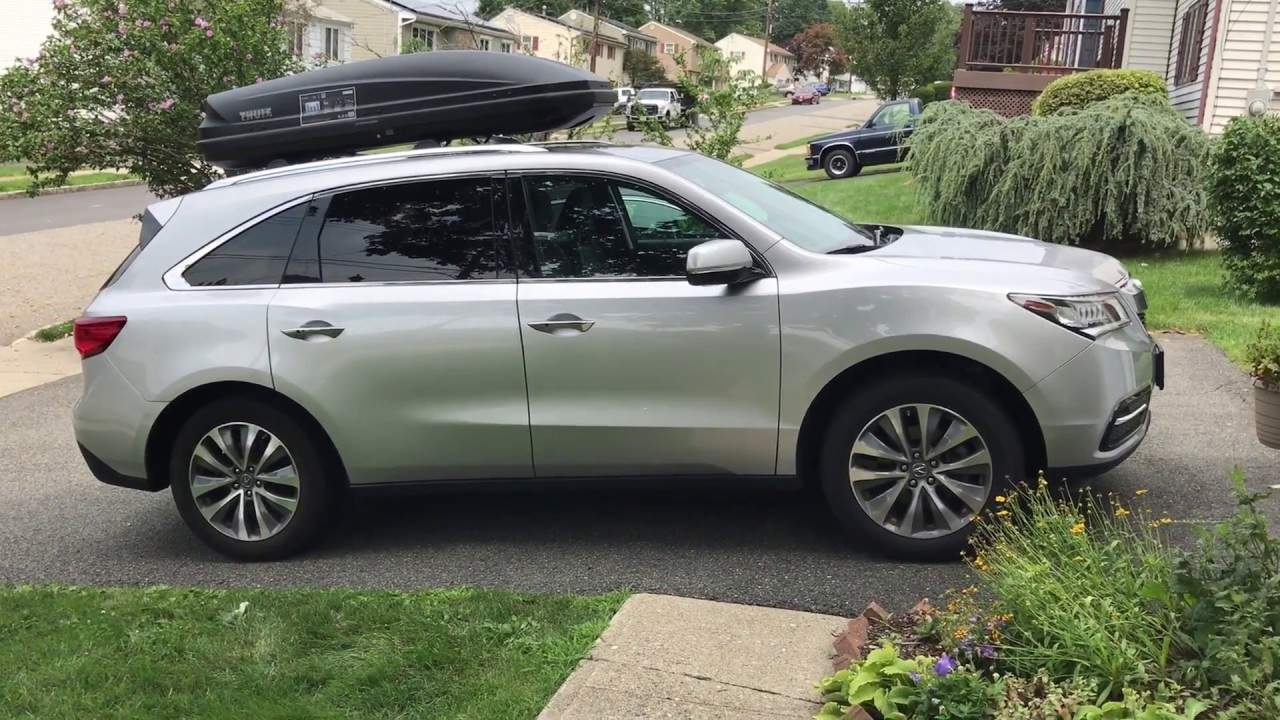 Thule 6297b Motion Xt Large 16 Cf Roof Top Cargo Box On Mazda Cx 9 By Rack Outfitters