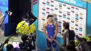 池江璃花子パンパシ水泳2018 バタフライ100m金メダル獲得生映像