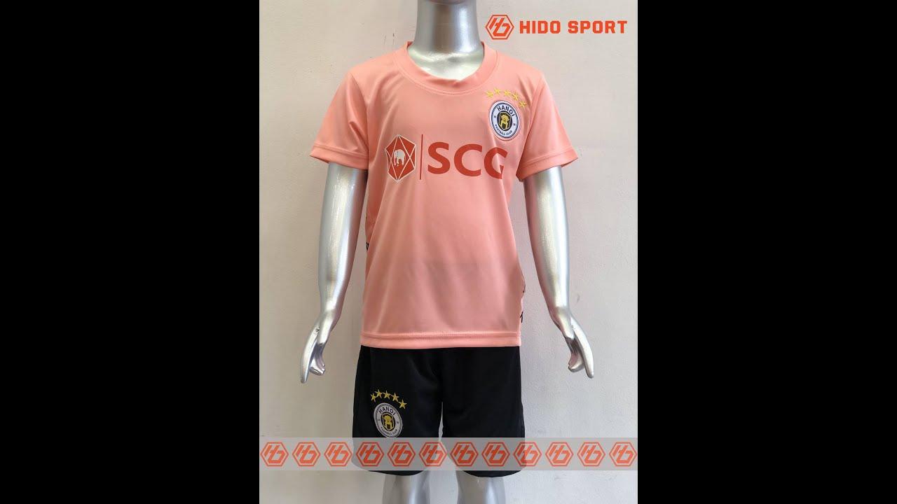 Quần áo bóng đá TRẺ EM CLB HÀ NỘI  màu HỒNG  đồ đá banh mới 2020-2021