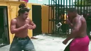 Jorge Masvidal vs heavyweight in a street bare knuckle fight. Green Mind Life