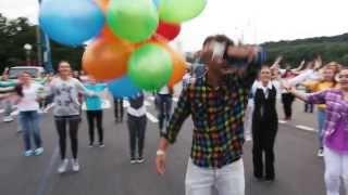 Дарина Бадаева | Флешмоб на Воробьевых Горах на День Города 2013 с участием мэра Сергея Собянина