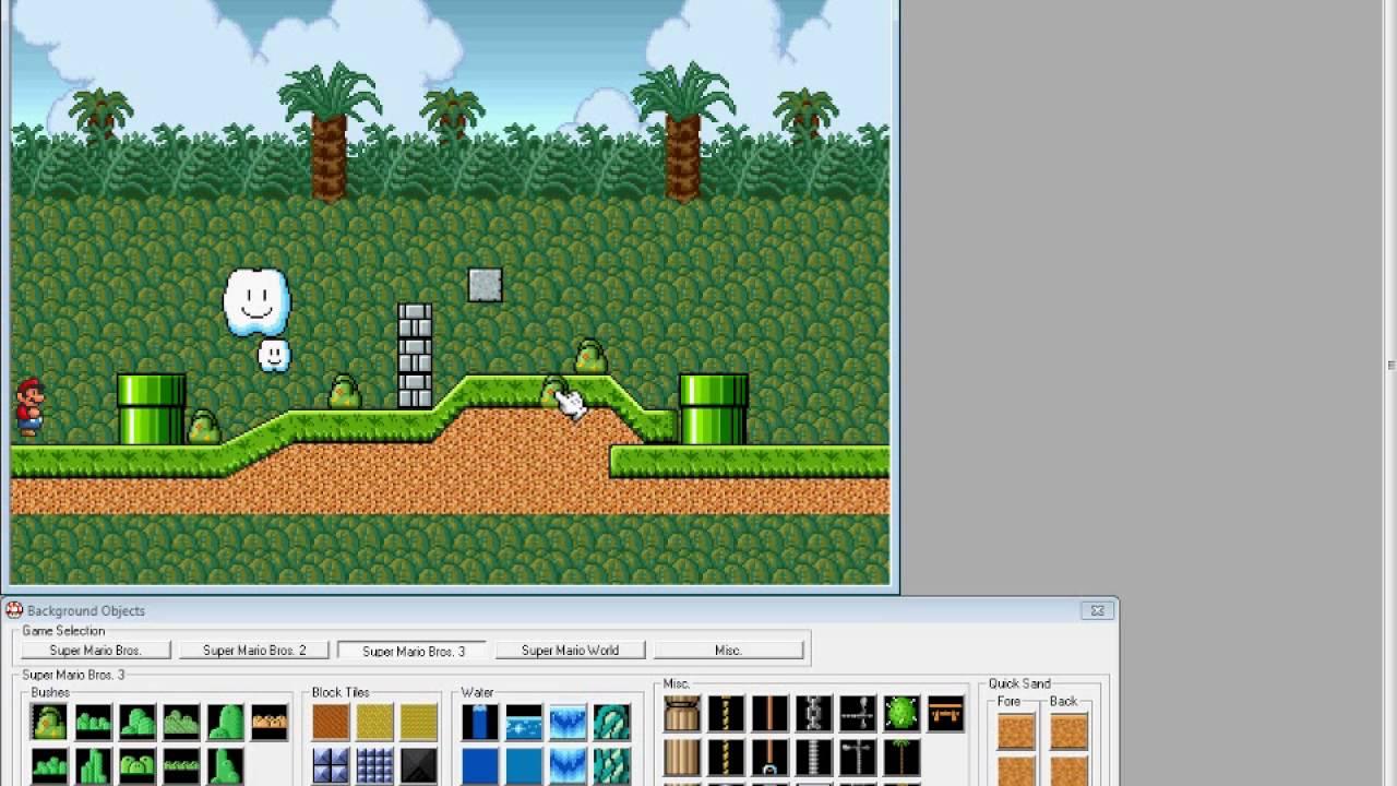 Super Mario Bros X #1 Blöcke und Backgrounds