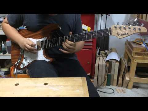 Custom ordred mahogany strat