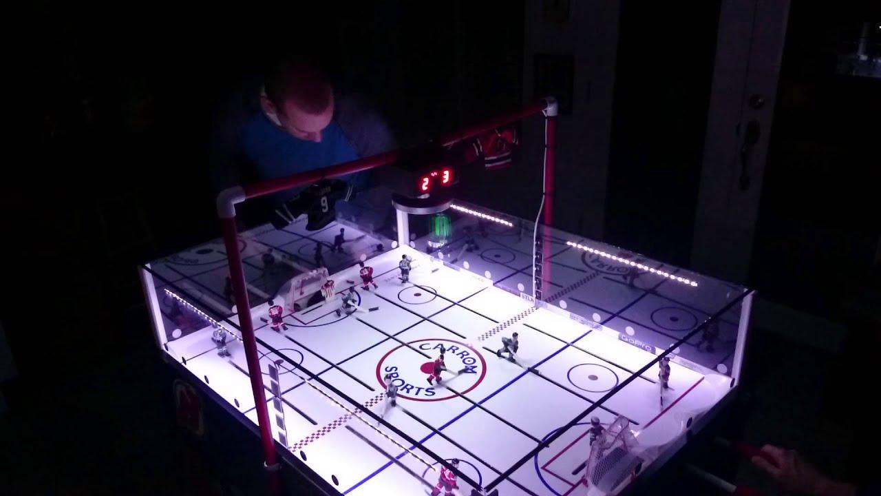 Carrom bubble hockey match devils vs stars - YouTube
