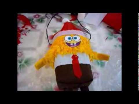 Piñata De Bob Esponja Navideño Piñata Navideña
