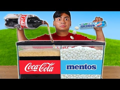 Experiment: Diet Coke and Mentos Aquarium