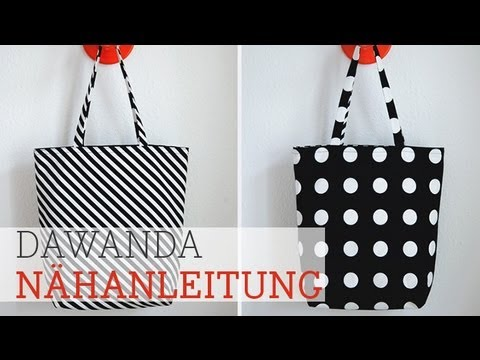 dawanda n hschule beuteltasche zum wenden youtube. Black Bedroom Furniture Sets. Home Design Ideas